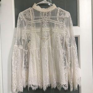 Whimsical Lace Shirt